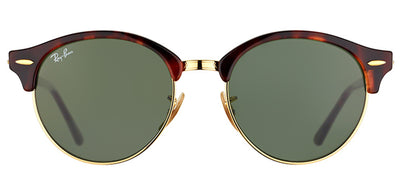 Ray-Ban RB 4246 990 Clubmaster Plastic Tortoise/ Havana Sunglasses with Green Lens