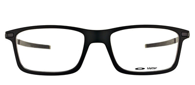 Oakley OX 8050 01 Rectangle Plastic Black Eyeglasses with Demo Lens