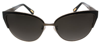 Lanvin SLN 036M 448 Cat-Eye Metal Black Sunglasses with Grey Gradient Lens