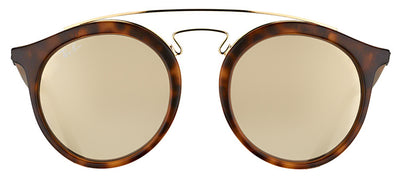 Ray-Ban RB 4256 60925A Fashion Plastic Tortoise/ Havana Sunglasses with Gold Mirror Lens