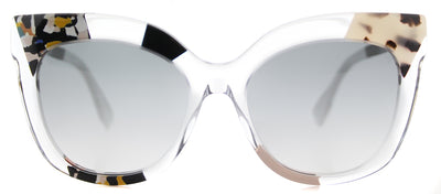 Fendi FF 0179 TDW Square Plastic Clear Sunglasses with Grey Gradient Lens