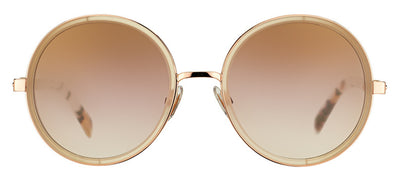 Jimmy Choo JC Andie J7A Round Metal Gold Sunglasses with Gold Mirror Lens