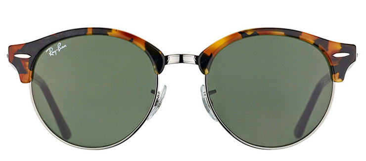 Ray-Ban RB 4246 1157 Clubmaster Plastic Tortoise/ Havana Sunglasses with Green Lens