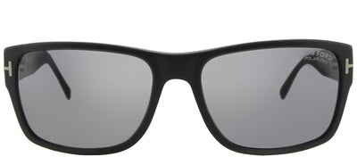 Tom Ford Mason TF 445 02D Rectangle Metal Black Sunglasses with Grey Polarized Lens
