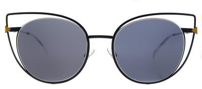 Fendi FF 0176 TLP Cat-Eye Metal Blue Sunglasses with Blue Lens