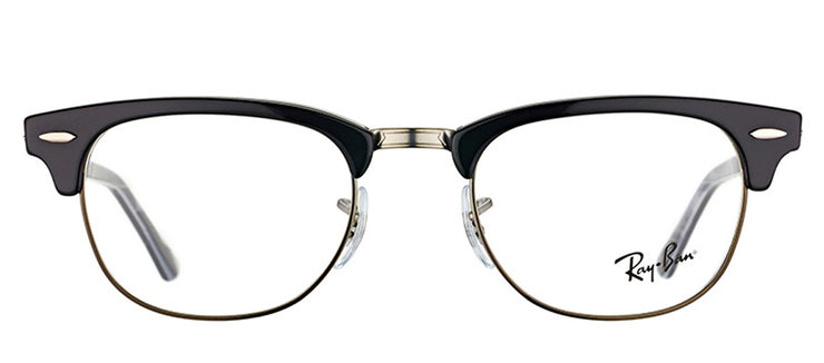 Ray-Ban RX 5154 5649 Clubmaster Plastic Black Eyeglasses with Demo Lens