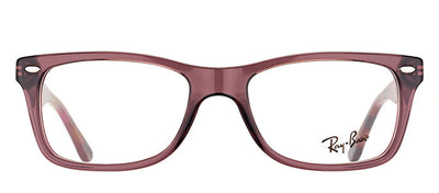 Ray-Ban RX 5228 5628 Rectangle Plastic Brown Eyeglasses with Demo Lens