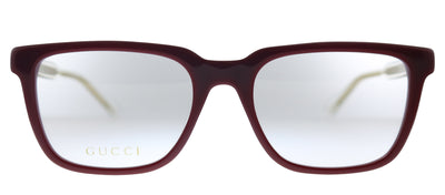 Gucci GG 0560O 007 Rectangle Plastic Burgundy Eyeglasses with Demo Lens