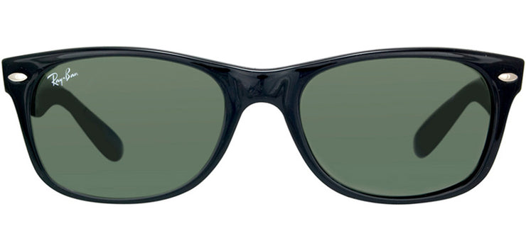 Ray-Ban RB 2132 901 Wayfarer Plastic Black Sunglasses with Crystal Green Lens