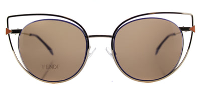 Fendi FF 0176 3YG Cat-Eye Metal Gold Sunglasses with Brown Lens