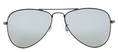 Ray-Ban Junior Jr RJ 9506 250/30 Aviator Metal Ruthenium/ Gunmetal Sunglasses with Grey Flash Mirror Lens