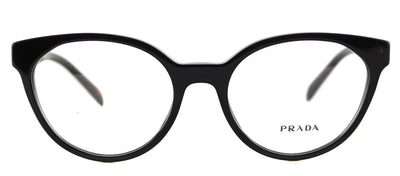 Prada PR 01TV 1AB1O1 Cat-Eye Plastic Black Eyeglasses with Demo Lens