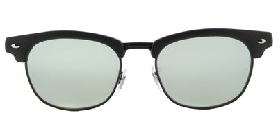 Ray-Ban Junior Jr RJ 9050 100S30 Clubmaster Plastic Black Sunglasses with Grey Flash Mirror Lens