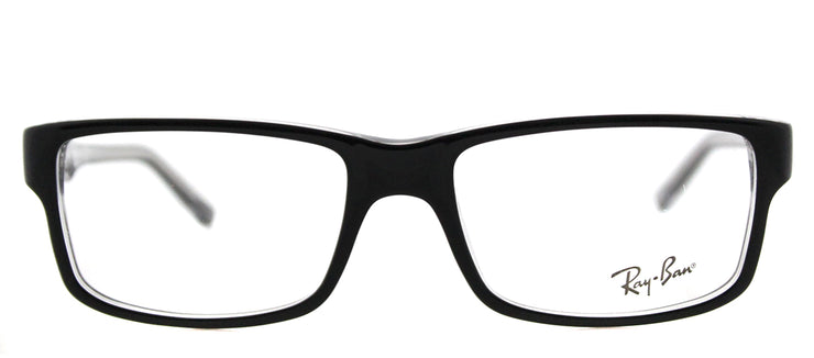 Ray-Ban RX 5245 2034 Rectangle Plastic Black Eyeglasses with Demo Lens