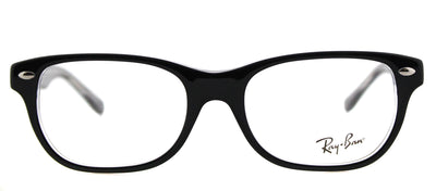 Ray-Ban Junior RY 1555 3529 Rectangle Plastic Black Eyeglasses with Demo Lens