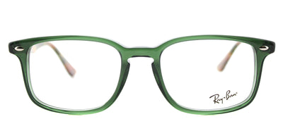 Ray-Ban RX 5353 5630 Square Plastic Green Eyeglasses with Demo Lens