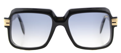 Cazal 607 Square Plastic Black Sunglasses with Grey Gradient Lens