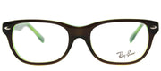 Ray-Ban Junior RY 1555 3665 Rectangle Plastic Brown Eyeglasses with Demo Lens