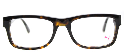 Puma PU 0047O 003 Rectangle Plastic Tortoise/ Havana Eyeglasses with Demo Lens