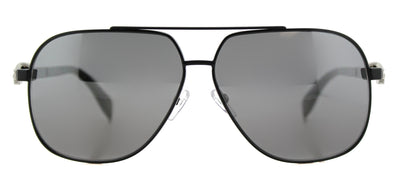 Alexander McQueen AM 0019S 001 Aviator Metal Black Sunglasses with Silver Mirror Lens