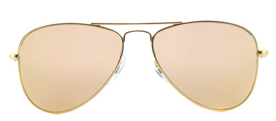 Ray-Ban Junior Jr RJ 9506 249/2Y Aviator Metal Gold Sunglasses with Gold Flash Mirror Lens