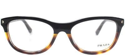Prada PR 05RV TKA1O1 Cat-Eye Plastic Black Eyeglasses with Demo Lens
