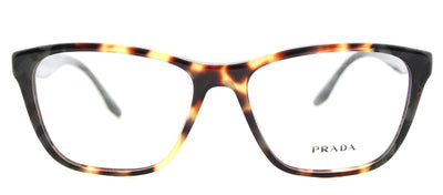 Prada PR 04TV U6M1O1 Square Plastic Tortoise/ Havana Eyeglasses with Demo Lens