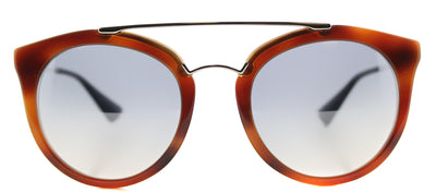Prada PR 23SS USE5R0 Round Plastic Brown Sunglasses with Silver Mirror Lens
