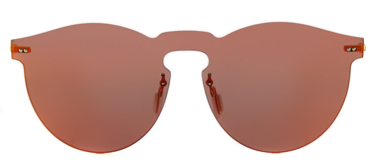 Illesteva IL LeoMask RM 06 Round Plastic Burgundy/ Red Sunglasses with Red Mirror Lens