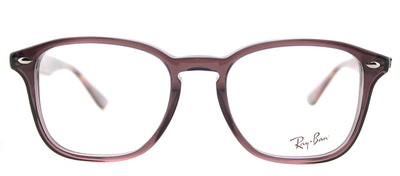 Ray-Ban RX 5352 5628 Square Plastic Brown Eyeglasses with Demo Lens