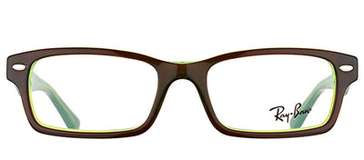 Ray-Ban Junior Jr RY 1530 3665 Square Plastic Brown Eyeglasses with Demo Lens