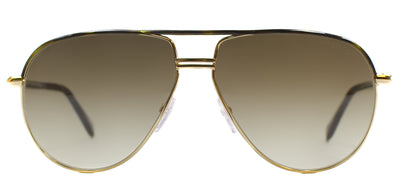 Tom Ford TF 285 52K Aviator Metal Brown Sunglasses with Roviex Gradient Lens