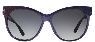 Tom Ford TF 330 82B Cat-Eye Plastic Blue Sunglasses with Blue Gradient Lens