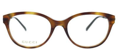 Gucci GG 0656O 002 Cat-Eye Plastic Havana Eyeglasses with Demo Lens