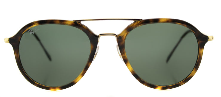 Ray-Ban RB 4253 710 Square Plastic Tortoise/ Havana Sunglasses with Green Lens