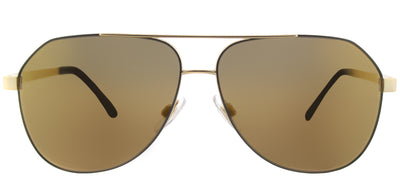 Dolce & Gabbana DG 2144 1295F9 Aviator Metal Grey Sunglasses with Bronze Mirror Lens