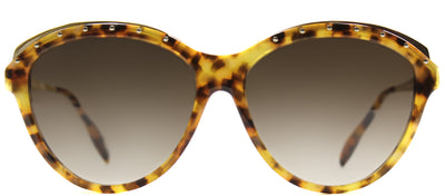 Alexander McQueen AM 4241 2IK Cat-Eye Metal Brown Sunglasses with Brown Gradient Lens