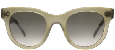 Celine CL 41053 QP4 Cat-Eye Plastic Green Sunglasses with Grey Lens