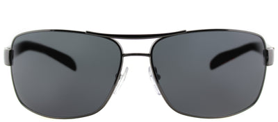 Prada Linea Rossa PS 54IS 5AV5Z1 Aviator Metal Ruthenium/ Gunmetal Sunglasses with Grey Polarized Lens