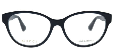 Gucci GG 0633O 001 Cat-Eye Plastic Black Eyeglasses with Demo Lens