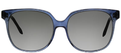 Victoria Beckham VBS 104 C04 Square Plastic Blue Sunglasses with Grey Gradient Zeiss Lens