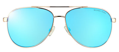 Michael Kors MK 5007 104525 Aviator Metal Gold Sunglasses with Blue Mirror Lens