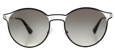 Prada PR 62SS 1AB0A7 Round Metal Black Sunglasses with Grey Gradient Lens