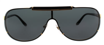 Versace VE 2140 100287 Aviator Metal Gold Sunglasses with Grey Lens