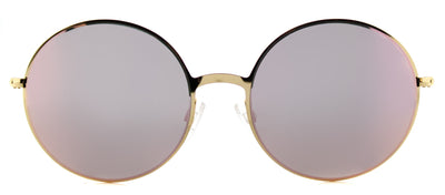 Michael Kors MK 5017 10244Z Round Metal Gold Sunglasses with Gold Mirror Lens