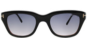 Tom Ford TF 237 05B Rectangle Plastic Black Sunglasses with Grey Gradient Lens