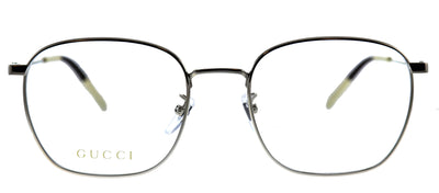 Gucci GG 0681O 002 Square Metal Silver Eyeglasses with Demo Lens
