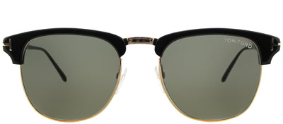 Tom Ford Henry TF 248 05N Clubmaster Plastic Black Sunglasses with Green Lens