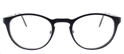 Lafont LF Resonance 3058 Round Metal Blue Eyeglasses with Demo Lens