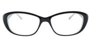 Lafont LF Ruban 3043 Small Cat-Eye Plastic Blue Eyeglasses with Demo Lens